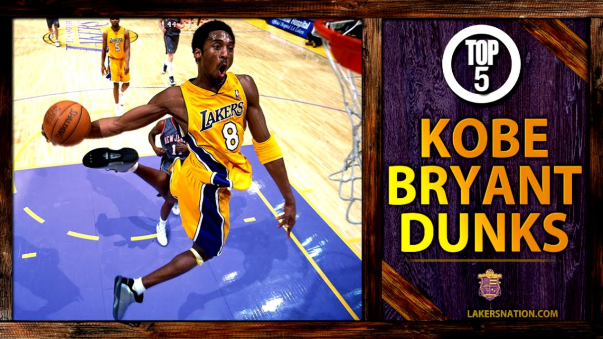 Kobe Bryants Top 5 Dunks Of All Time   YouTube
