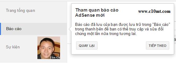 báo cáo google adsense www.c10mt.com