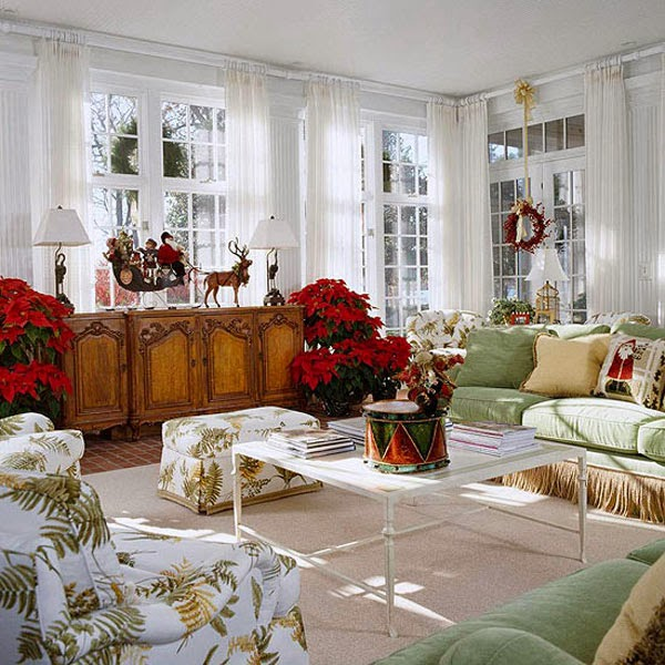 Winter Decorations Interior Design Living Room Picture 06