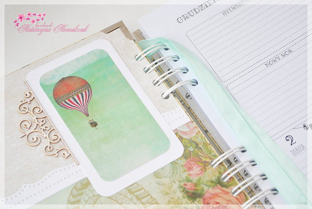 kalendarz z balonem na 2016 rok scrapbooking