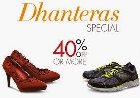 Amazon Dhanteras Special Offer: Flat 40% or more Discount on Select Footwears