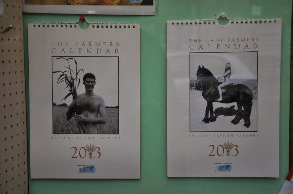 The Farmers' Calendars seen in a shop on the Isle of Wight