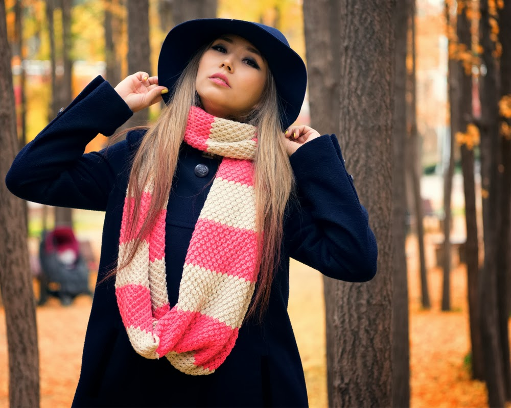 How to wear an infinity scarf with tassels