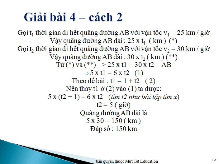 Bài toán chuyển động đều nâng cao (9)