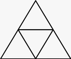 Решение задачи про треугольник и пять точек