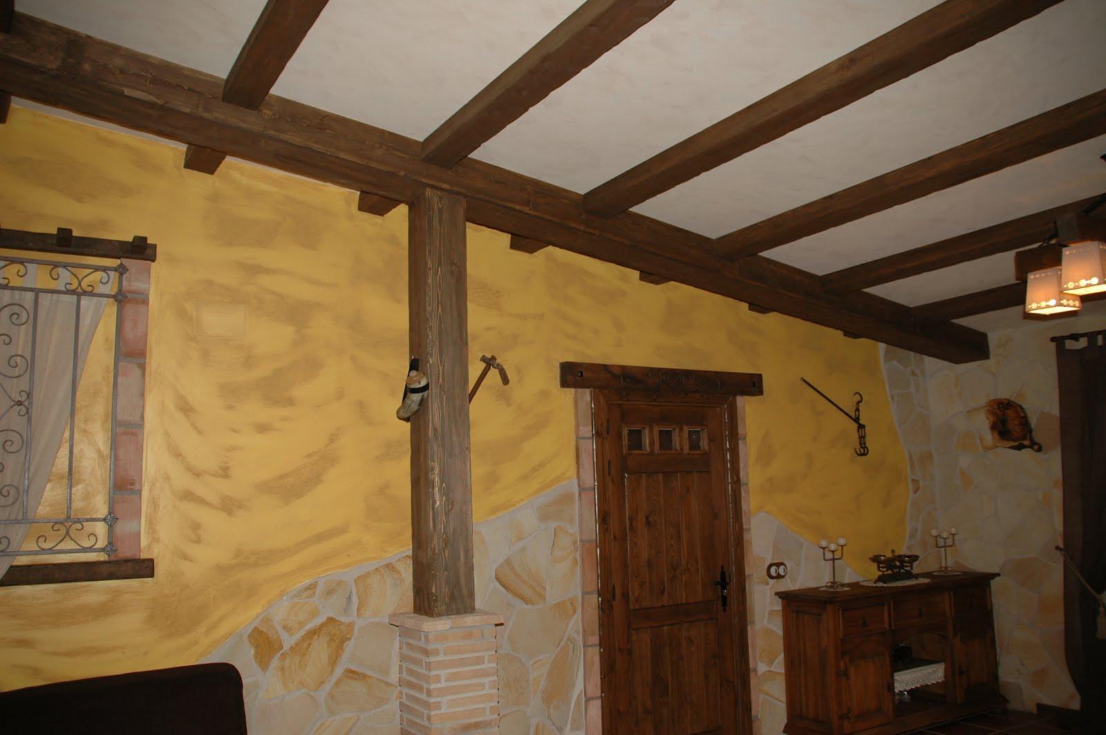 Carpinteria viosca roda falsas vigas y pilares - Vigas de madera redondas ...