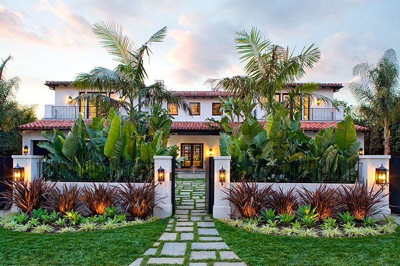 Exterior of a Spanish revival style home