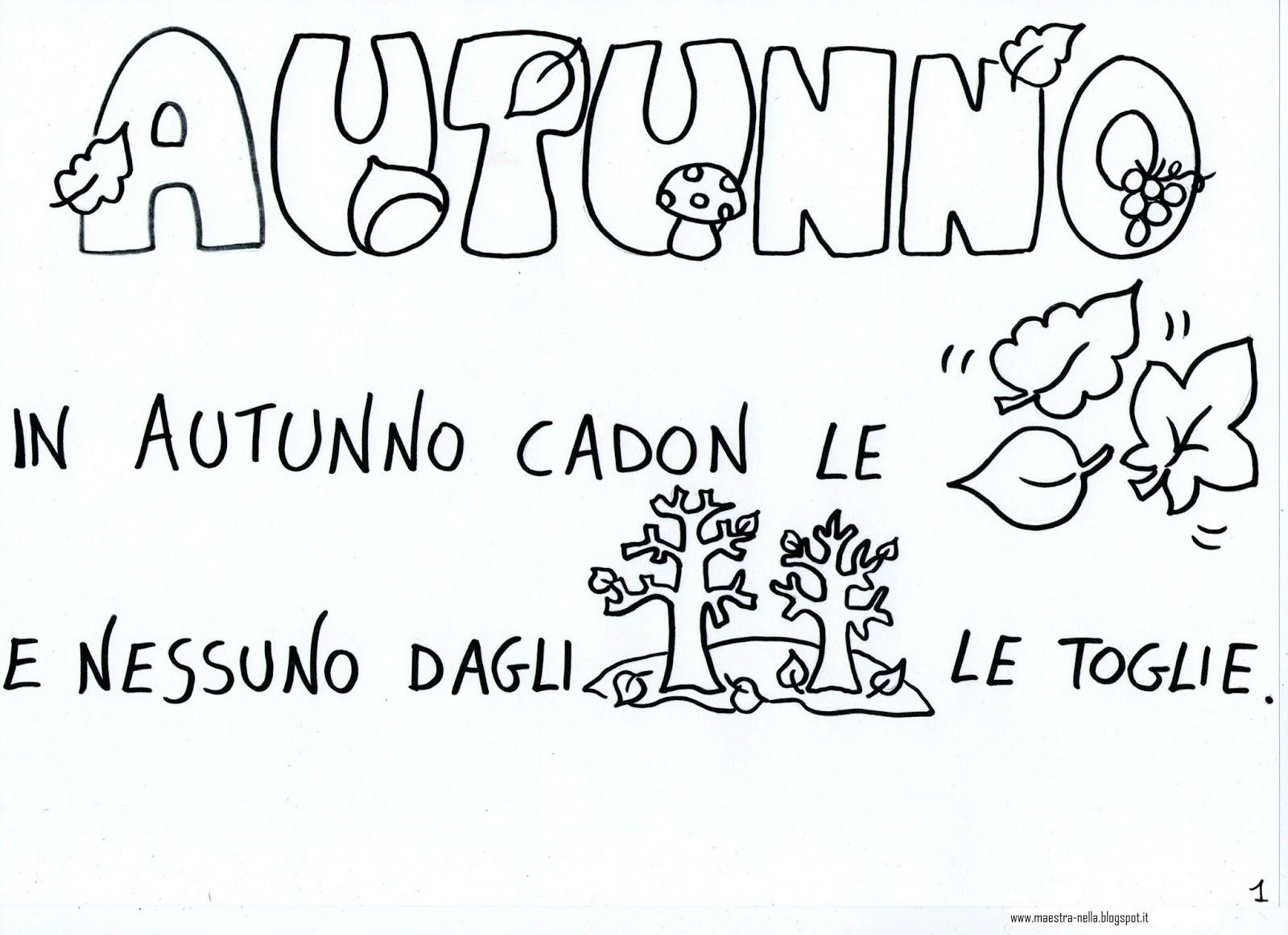 Popolare maestra Nella: Autunno - poesia illustrata HO06
