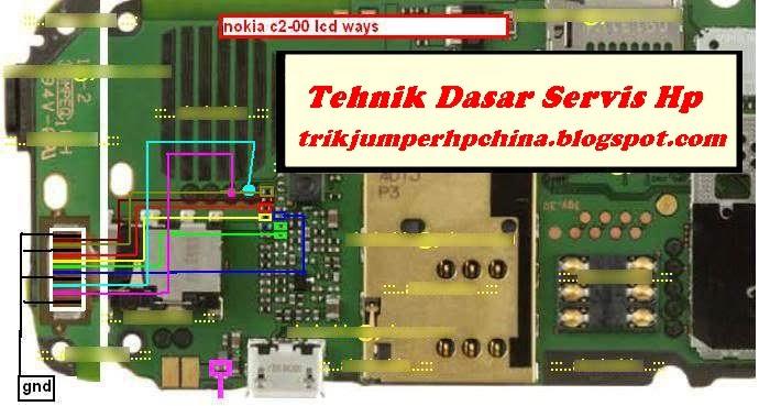 Solusi Lcd Blank Dan Jalur Gambar Nokia C2