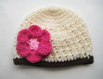 Crochet Flower Pattern For Newborn Hat : CROCHET BEANIE VISOR PATTERN Crochet Patterns Only