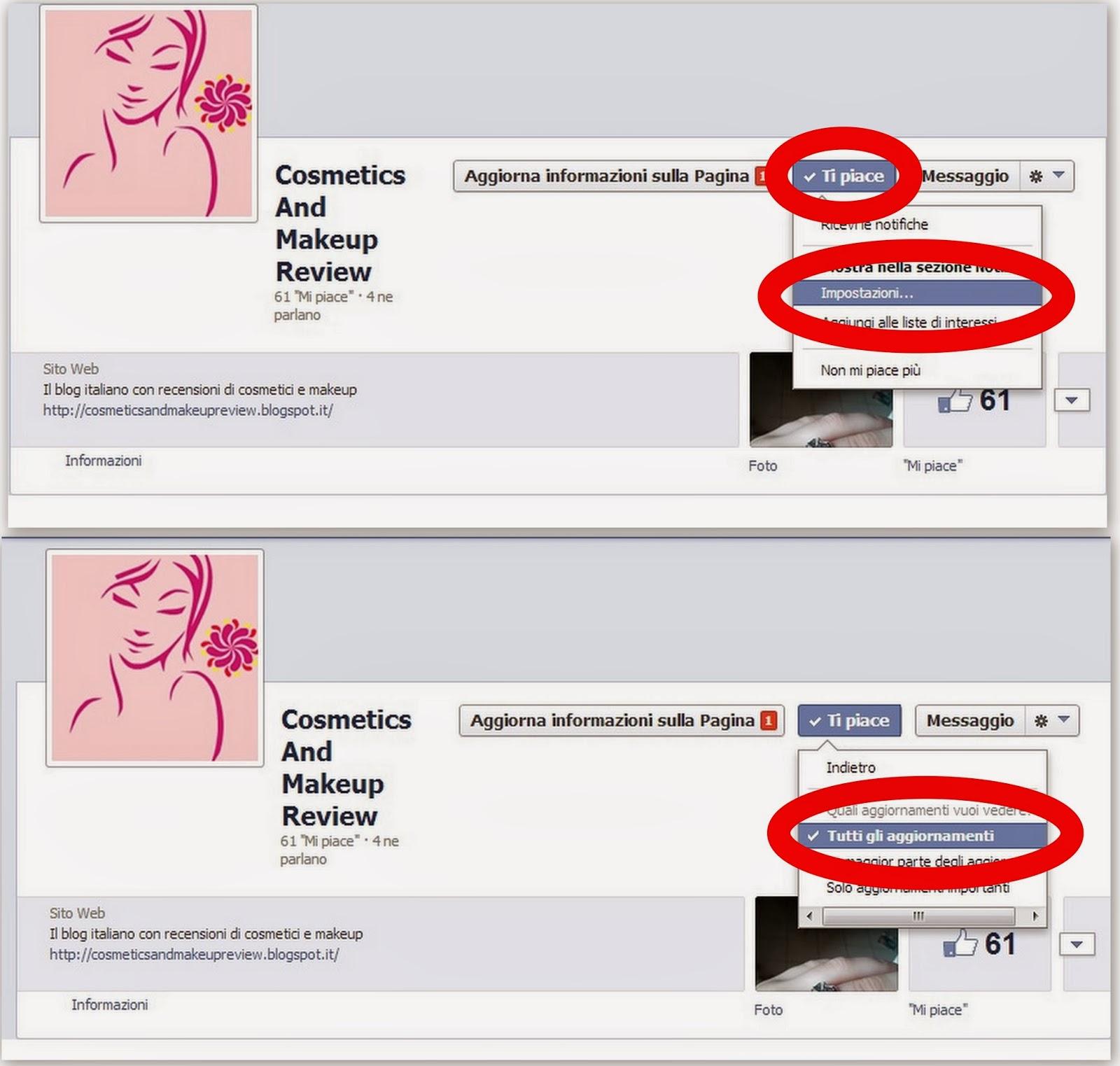 Facebook - Come ricevere tutti gli aggiornamenti della pagina