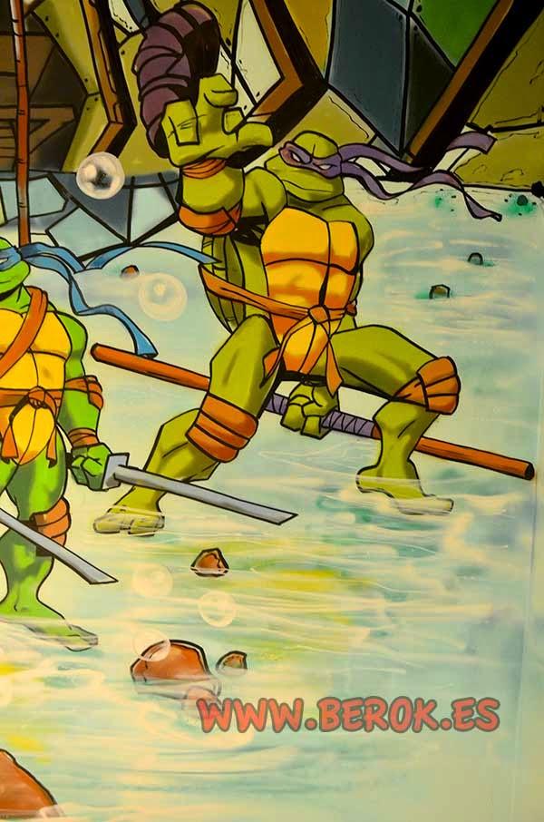 Mural infantil Tortuga ninja Donatello