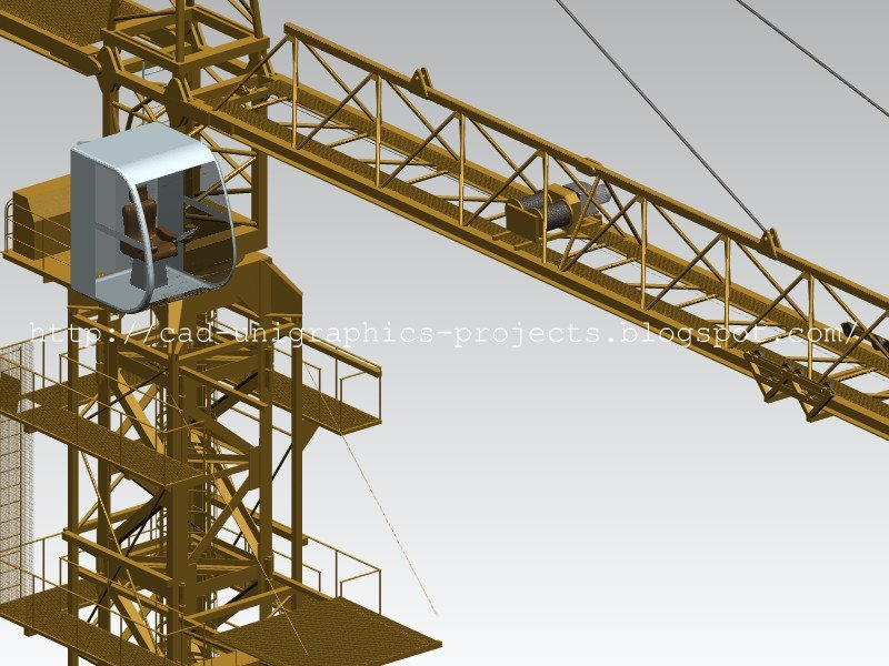 Tower Crane Design : Cad designs by ivan tower crane d model