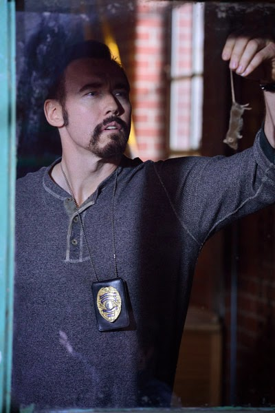 Kevin Durand as Vasiliy Fet the big Russian rat exterminator in The Strain Season 1 Episode 2 The Box