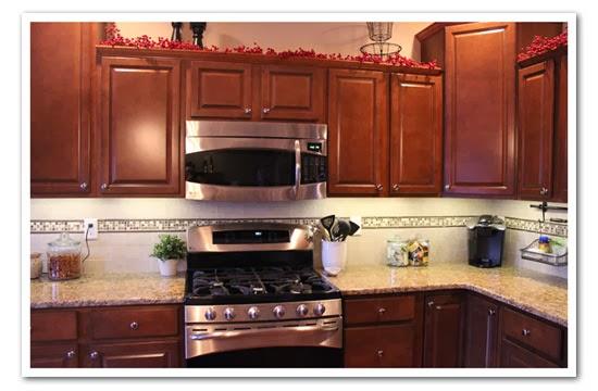 Kitchen Backsplash Accent Tiles harris happiness: new kitchen backsplash