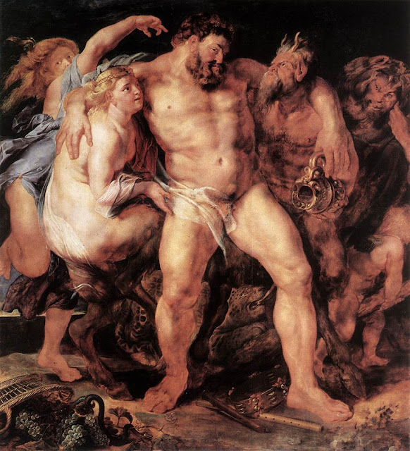 The Drunken Hercules, Peter Paul Rubens, Baroque painting