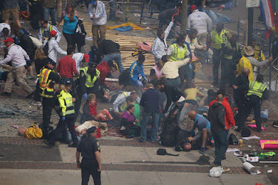 "The Boston Marathon bombing was widely called ""terrorism"" when people had no idea who committed it or what motivated them. (cc photo: Aaron Tang)"