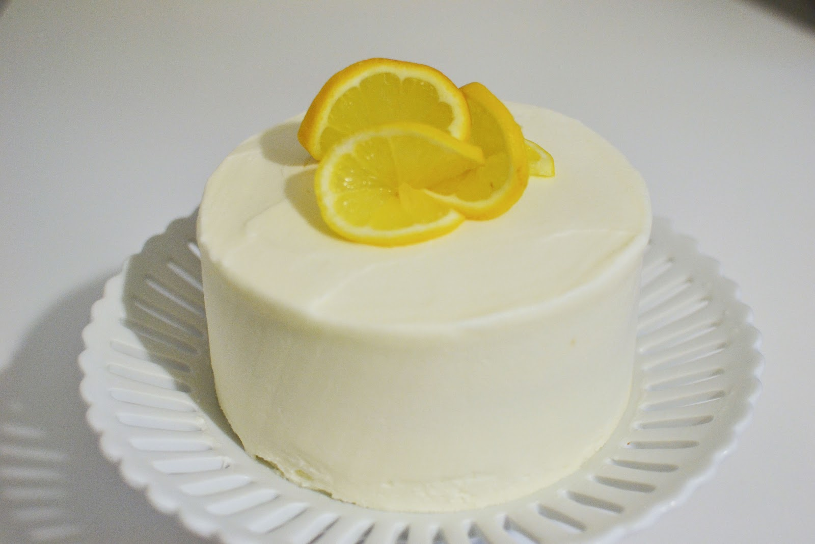 Lemon Chiffon Cake with Lemon Italian Buttercream Icing