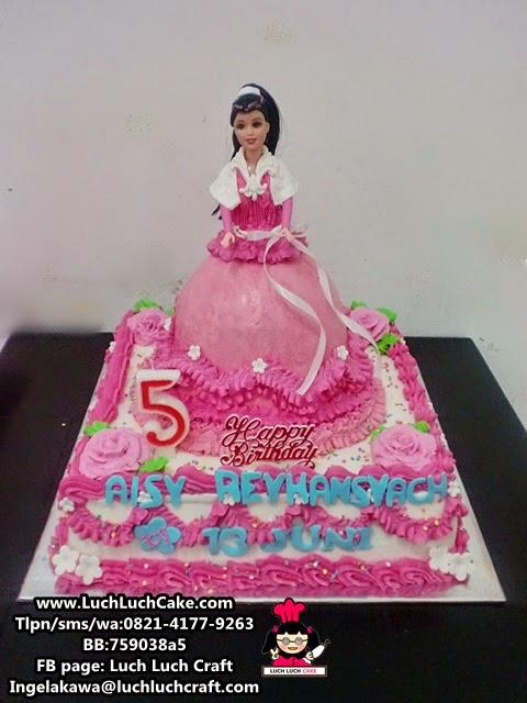 Kue Tart Ulang Tahun Princess Barbie Pink Daerah Surabaya - Sidoarjo