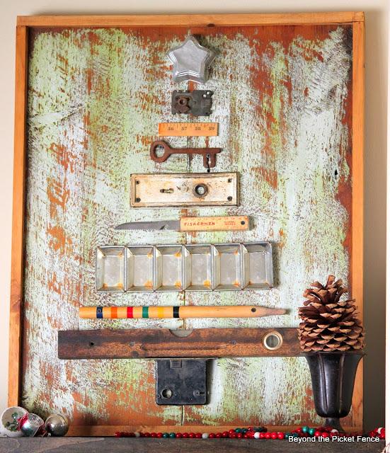 12 days of Christmas Junk Tree http://bec4-beyondthepicketfence.blogspot.com/
