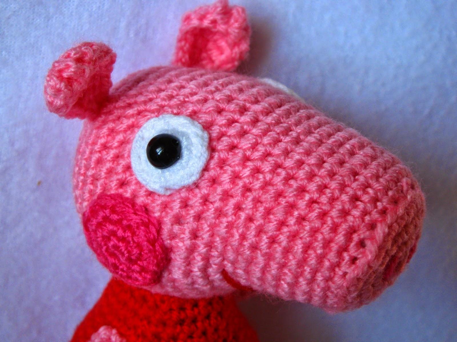 Вязанные игрушки свинка пеппа 30