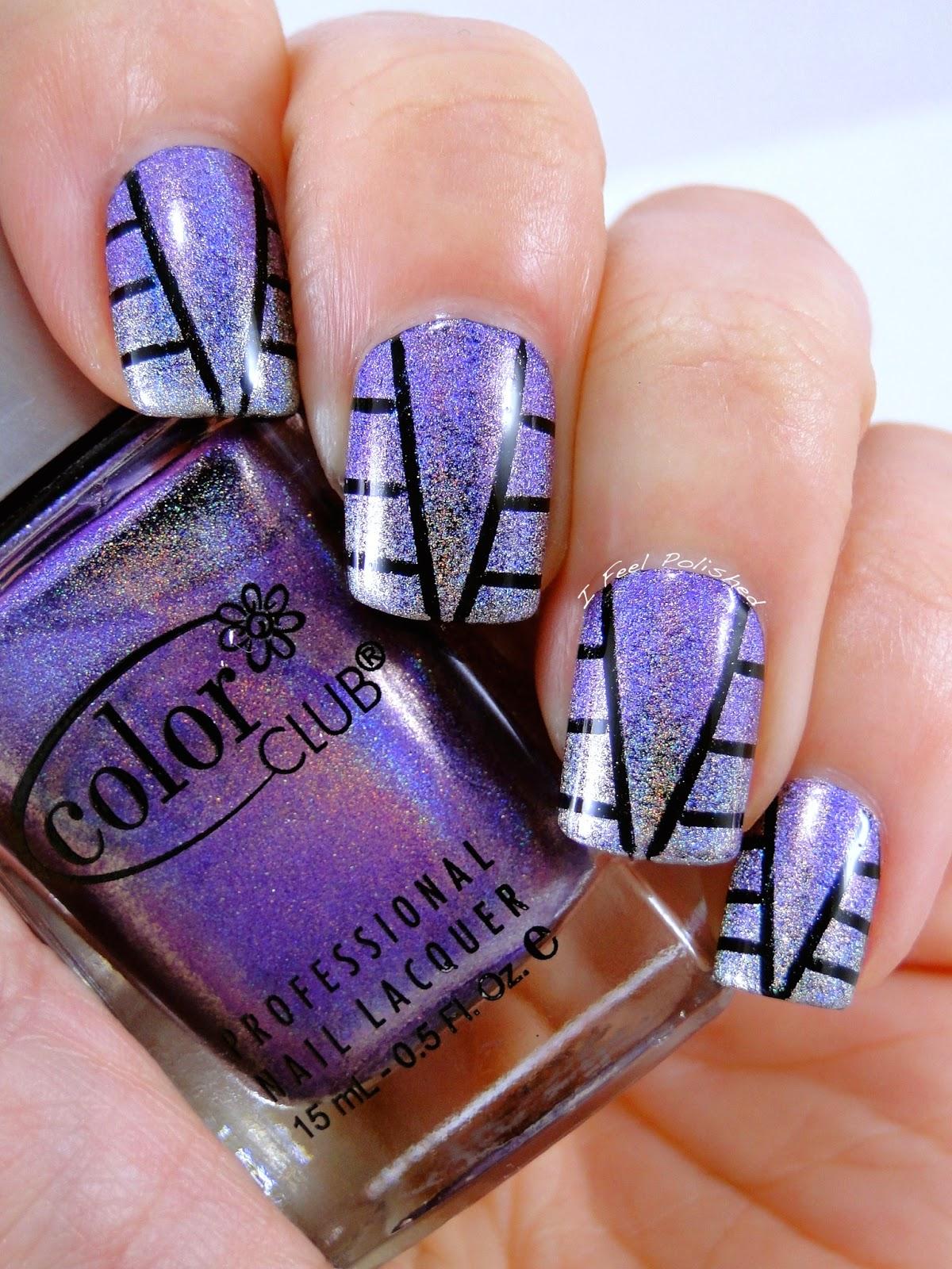 Holographic Nail Art