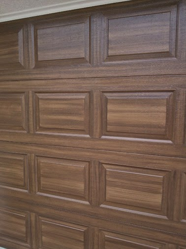 June 2014 everything i create paint garage doors to for Paint door to look like wood