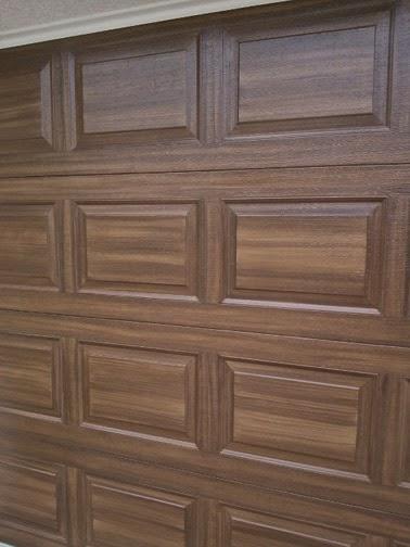 June 2014 Everything I Create Paint Garage Doors To Look Like Wood
