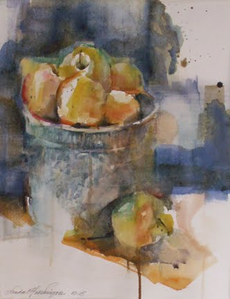 Delicious Apples in Vintage Pot