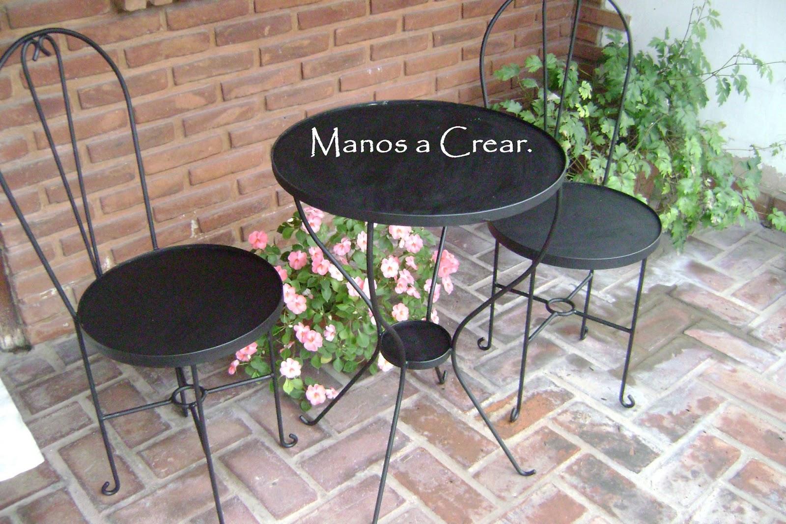 Mesas de jardin de hierro perfect mesa jardn negro garden - Mesa de hierro ...