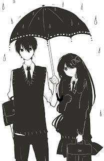 Ilustrações de casais em estilo mangá