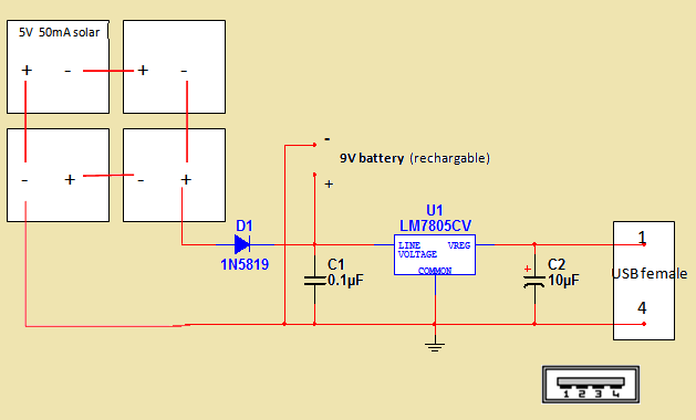 r Variable together with 12v To 5v Converter furthermore 12 Volt Power Supply Circuit Diagram in addition Mobile Phone Travel Charger furthermore Solar Recharging. on 9v battery charger circuit