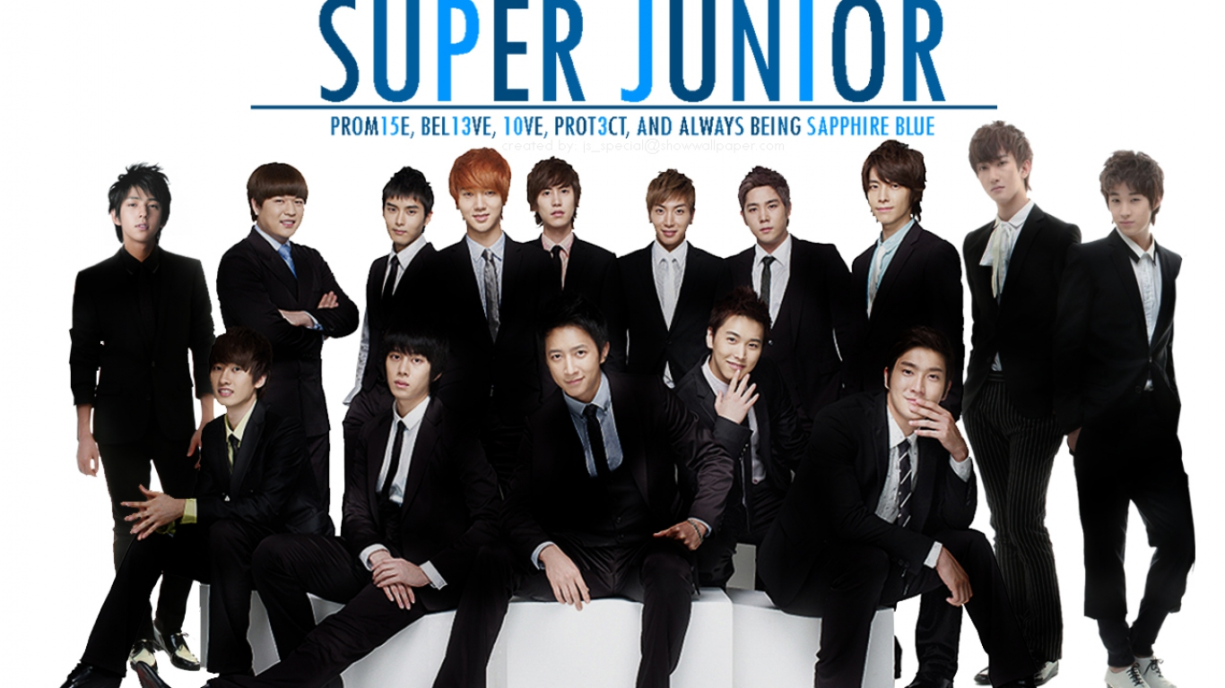 View Super Junior  Sapphire Blue wallpaper  Download Super Junior