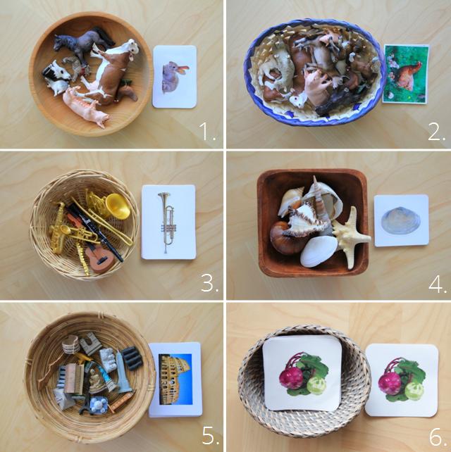 6 Montessori ZuordnungsspielIdeen mit Karten zum
