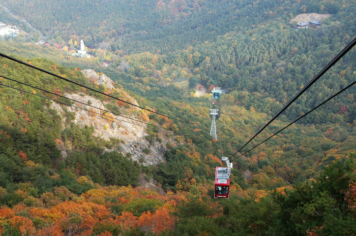 Cable car in Mt.  Apsan