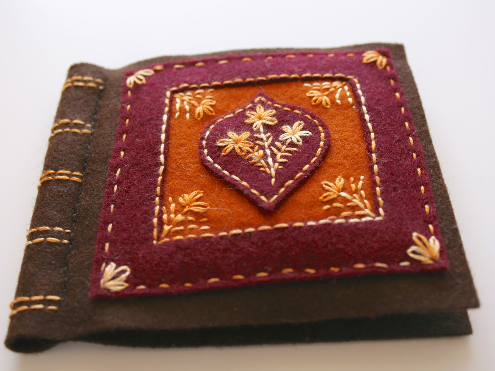 felt needle book