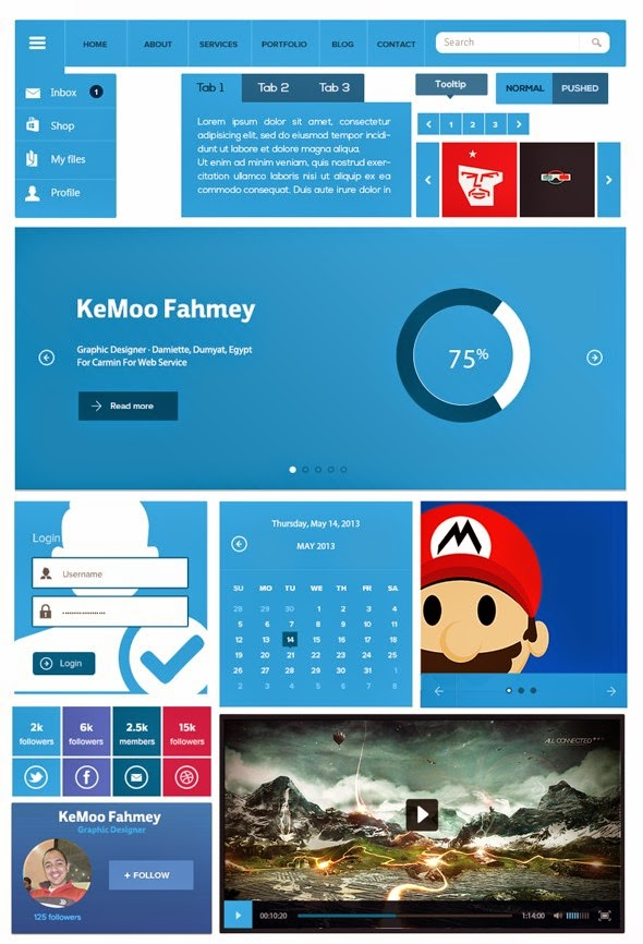 PSD Templates and UI Kits