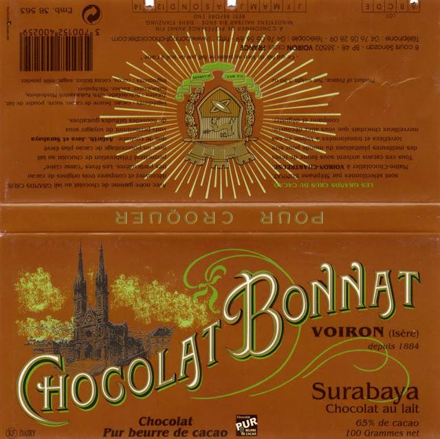 tablette de chocolat lait dégustation bonnat lait surabaya