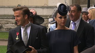 Victoria Beckham aka Posh Spice had a hat glued to her forehead