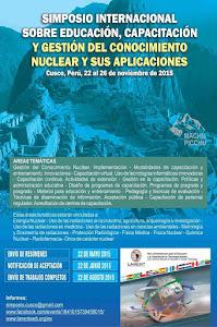 SIMPOSIO INTERNACIONAL SOBRE EDUCACIÓN, CAPACITACIÓN Y GESTIÓN DEL CONOCIMIENTO EN ENERGÍA NUCLEAR