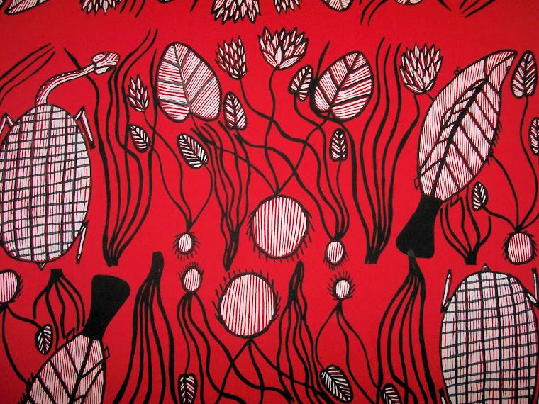Design Exibition of Australian Indigenous Printed Fabrics.