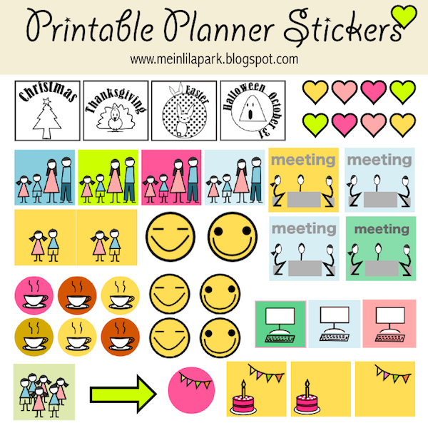 image relating to Printable Calendar Stickers named totally free printable calendar planner stickers - ausdruckbare