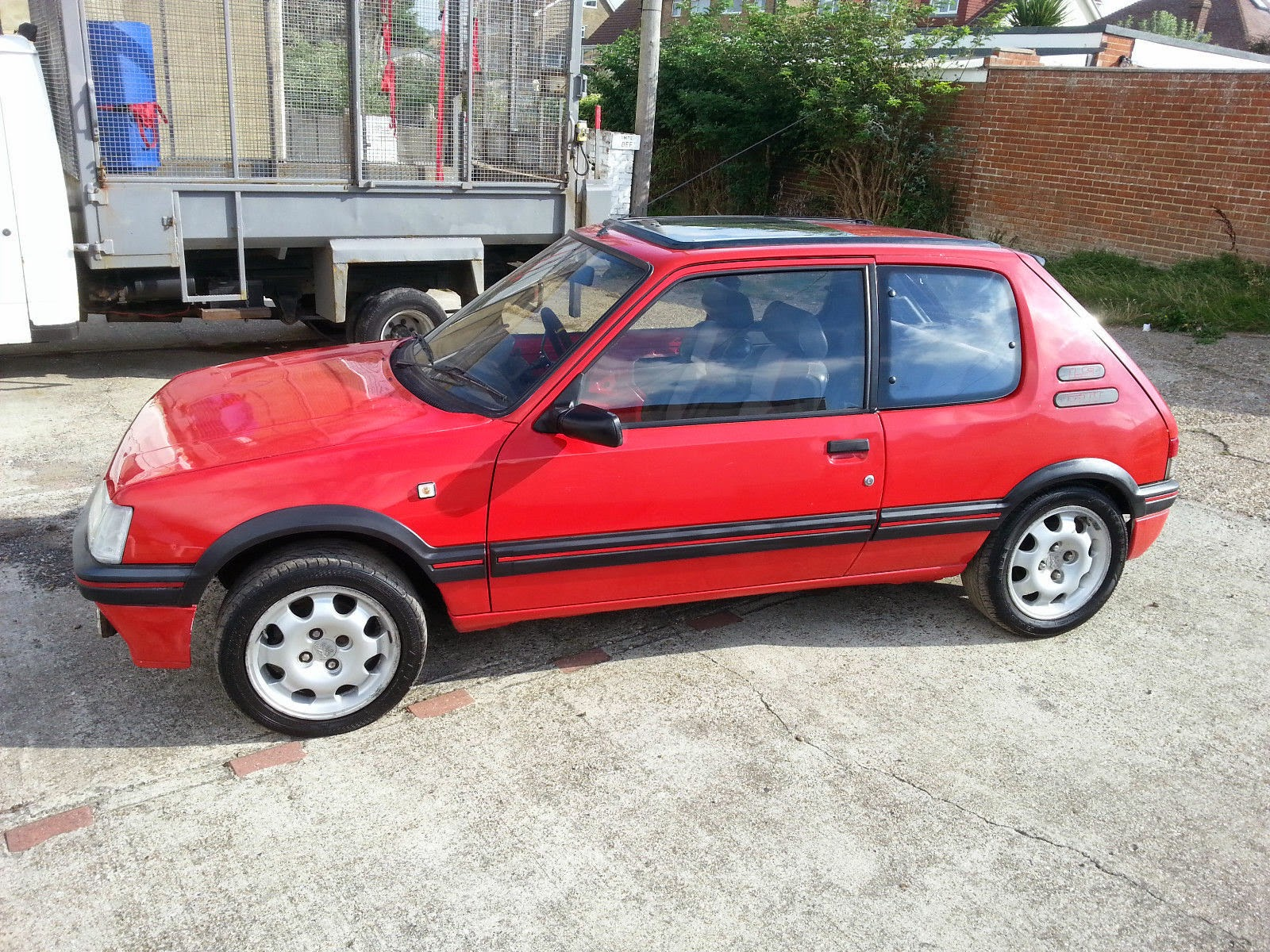 1990 peugeot 205 red gti auto restorationice for Housse 205 gti