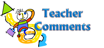 The words Teacher Comments