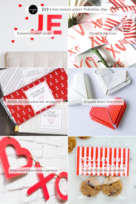 Schön DIY: Last Minute Paper Valentine Diys