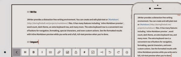 1Writer markdown editor for iPhone and iPad
