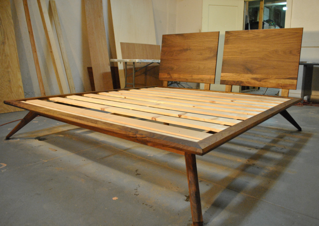 Furniture by Pete: Platform bed with angled legs