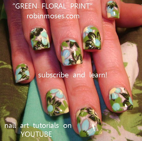 robin moses nail art lime mint