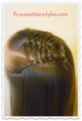 Woven pyramid hairstyle video tutorial