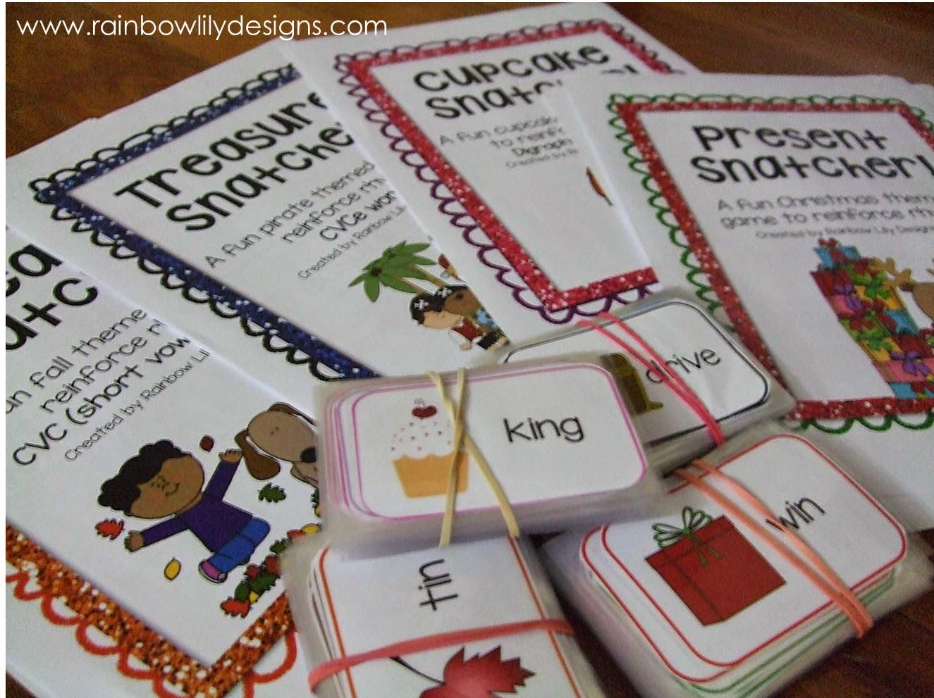 Great rhyming games #education #teacherspayteachers #RainbowLilyDesigns